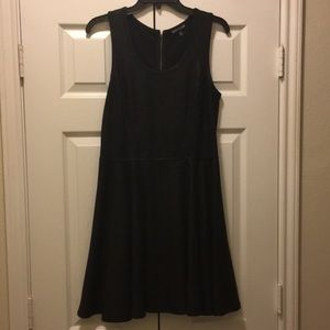 EXPESS || Black Faux Leather Dress